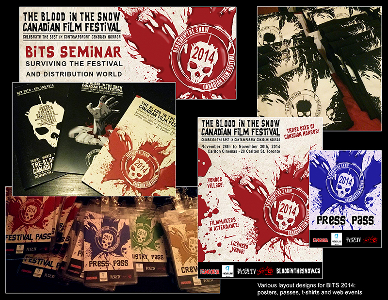 Blood in the Snow 2014 - branding and layout